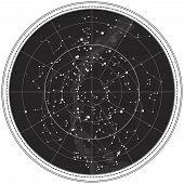 Celestial Map of The Night Sky