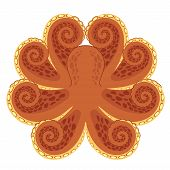 picture of devilfish  - Stylized symmetrical graphic of octopus - JPG