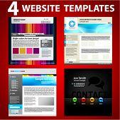 Four website templates. Second set.