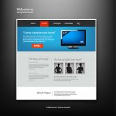 Website design template, vector.