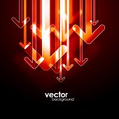 Fondo abstracto flechas. Vector.