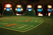 casino, selective focus on bet.