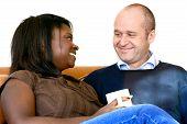 Beautiful Inter-Married Couple Sharing A Joke