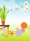 Retro Spring Garden (Vector)