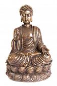 Figure of sitting and meditating Buddha