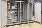 stock photo of plc  - Automation atex regulation plc and barriers panel board - JPG