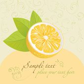 Lemon. Design template