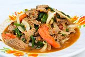 Thai Beef Salad, Yam Nua, A Very Spicy Salad With Cold, Fried Beef, Onion, Garlic, Chili Pepper, Tom poster