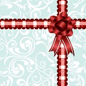 Ribbon decoration background