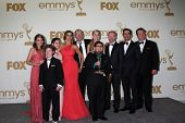 LOS ANGELES - SEP 18:  Modern Family Cast in the Press Room at the 63rd Primetime Emmy Awards at Nok
