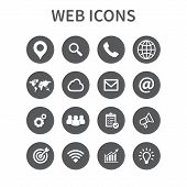 Web Icons Set. Universal Web Icon To Use In Web And Mobile Ui, Set Of Basic Ui Web Elements. Vector  poster