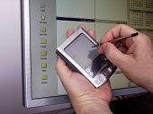 Handheld Pda And Lcd Monitor