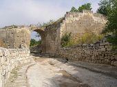 The Ancient Gate Of Horta-kapu (northern Gate), Chufut-kale Fortress. Crimea poster