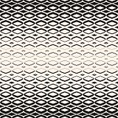 Vector Halftone Geometric Seamless Pattern With Smooth Diamond Shapes, Carved Grid. Hipster Fashion  poster