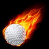 Golf ball on fire