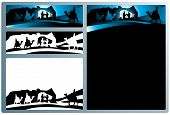 picture of nativity scene  - Illustration in different formats horizontal banner format and horizontal l and vertical letter format - JPG