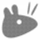 Mouse Head Halftone Vector Pictogram. Illustration Style Is Dotted Iconic Mouse Head Icon Symbol On  poster