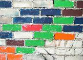 Colourful Bricks Wall