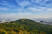 The Beauty Of South Korea, Seoul Cityscape, The Radio Tower On The Mountain View From Seoul Tower poster
