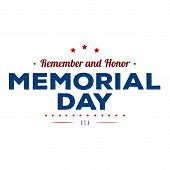 Memorial Day. Typography Design Layout For Usa Memorial Day Events, Sales, Promotion Vector Illustra poster
