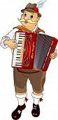 Músico Oktoberfest Alemanha jogar acordeão