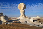 The Limestone Formation In The Desert