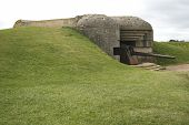 image of emplacements  - Gun emplacement on the Nazi Atlantic wall in Normandy France - JPG