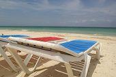 Sun beads on the beach in Cuba