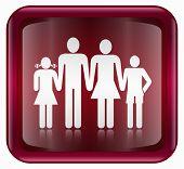 Menschen-Icon, rot, isoliert auf weißem Hintergrund