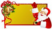 Etiqueta de la Navidad, Santa Claus