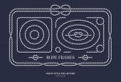 Nautical Rope Knots And Frames Set. Yacht Style Design. Vintage Decorative Elements. Template For Pr poster
