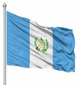 Waving flag of Guatemala