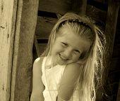 Little Sepia Tone Girl