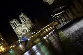 Paris Docks With Notre-dame Cathedral