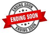 Ending Soon Label. Ending Soon Red Band Sign. Ending Soon poster