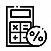 Math Calculator For Calculations Icon Vector. Outline Math Calculator For Calculations Sign. Isolate poster