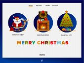 Website Providing The Service Of Christmas Events, Decor, Gifts. Concept Of Landing Page Christmas T poster