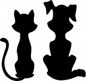 Cat_And_Dog_Silhouette.Eps