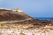 Faro en la isla de Lobos, Fuerteventura, Islas Canarias, España