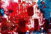 Messy Red Contemporary Abstract Painting Background With Paint Mark, Blot, Stain, Smudge, Smear. Tex poster