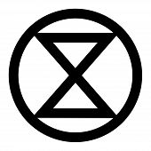 Extinction Symbol Icon With A White Background poster