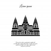 Angkor Wat Vector Icon Isolated On White Background, Angkor Wat Transparent Sign, Element Design In  poster