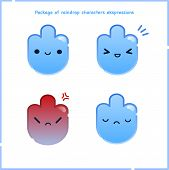 Cute Pack Water Drop Characters Expression . Vector Flat Cartoon Character Illustration. Isolated On poster
