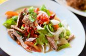 Spicy Pork Salad With Vegetables poster
