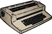 Electric Typewriter Illustration