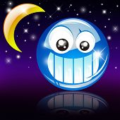 foto of goodnight  - A funny Smile with reflection and glossy effect - JPG