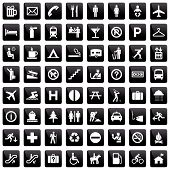 stock photo of elevator icon  - 64 pictographs set  - JPG