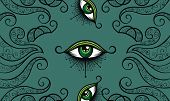 All Seeing Eye Symbol. Vision Of Providence poster