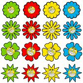 Happy Flowers Icons