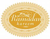 'Ramadan Kareem' - a message in English script.